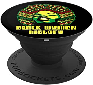 黑色女士历史月骄傲黑色力量文化礼物 2 PopSockets 手机和平板电脑握架260027  黑色