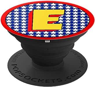星星交织字母E Pop Socket260027  黑色