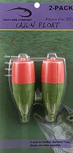 H&H Cajun Fishing Float, Orange/Green, 3 1/2-Inch