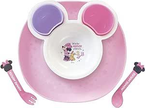 Nishiki Kasei 宝宝用餐具 不易漏餐具 MINNIE MOUSE (米妮老鼠)