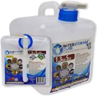 WaterStorageCube,无 BPA 可折叠水容器 带Spigot,露营储水袋,适合户外徒步飓风紧急情况,可折叠便携式FDA 水壶 1.3/2.6/5.3 加仑