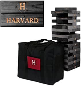 Victory Tailgate Harvard University Crimson Onyx 彩色巨型木筒塔游戏