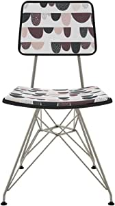 NyeKoncept 82SA6FCF691 Mid-Century 餐椅,黑色/白色