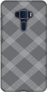 AMZER 设计师纤薄扣硬质手机壳带屏幕保护套件适用于华硕 Zenfone 3 ZE552KL Carbon Fiber Redux Stone Gray 5