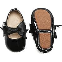 Felix & Flora软底皮革婴儿鞋 - 婴儿学步鞋莫卡辛橡胶鞋底婴儿鞋 B8705-black 12-18 Mon…