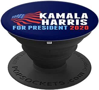 Kamala Harris 202020年总统 PopSockets 手机和平板电脑握架260027  黑色