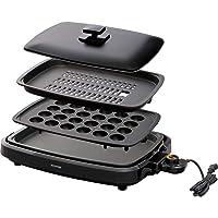 IRIS OHYAMA 爱丽思欧雅玛 电热烤盘 黑色 带盖子 3WAY型(章鱼烧、烤肉、平面) 黑色 3WAY(たこ焼きプレート付き) APA-137-B