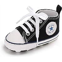 RVROVIC 男婴女鞋帆布学步鞋防滑婴儿*步行者 0-18 个月