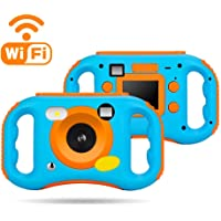 WEILIANTE 儿童 数码 WiFi 摄像机录像机,带 2.0 英寸 LCD 显示屏,5 倍数码变焦,闪光和麦克风