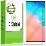 IQ Shield 屏幕保护膜兼容三星 Galaxy Note 10+Plus(Note 10+ 5G,6.8 英寸显示屏)(2 件装)(适合手机壳)防气泡透明薄膜