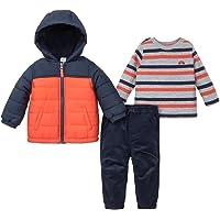 Little Me 男宝宝连帽夹克和裤子 3 件套