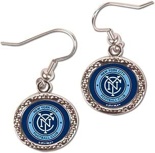 WinCraft 足球 81377015 纽约市 FC 珠宝雕刻耳环