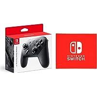 Nintendo 任天堂 Switch Pro控制器-Variation_P Amazon限定特典:マイクロファイバークロス付