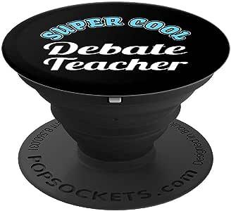 Debate Teacher 趣味礼物 Appreciation PopSockets 手机和平板电脑握架260027  黑色