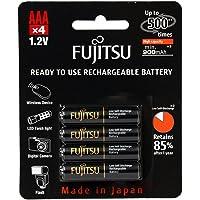 Fujitsu AAA NiMH 900mAh 预充电可充电电池组 - HR-4UTHCEX(4B)