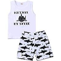 Toddler Baby Boy Girl Fall Clothes Baby Shark Printed Cartoon Kids Outfits Set