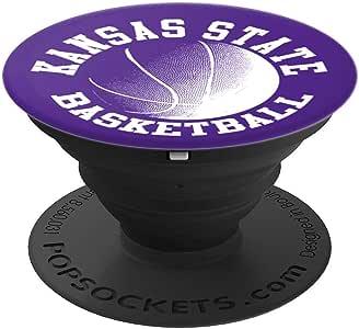 堪萨斯州篮球 – PopSockets 手机和平板电脑抓握支架260027  黑色