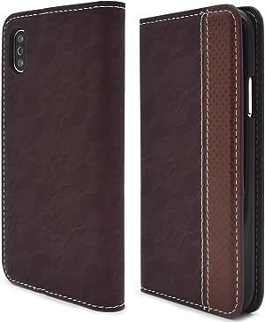 PLATA 蕾丝设计皮革手机壳  棕色 1_iPhone X