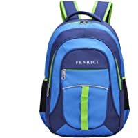 Fenrici 出品男孩、女孩儿童背包,18 英寸(约 45.7 厘米),适用于小学生。 Perseverance 中