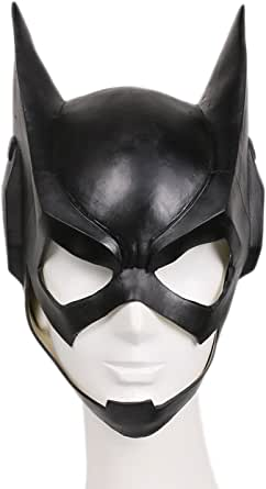 xcoser ® 蝙蝠女面具豪华黑色乳胶女式万圣节派对角色扮演服装配件