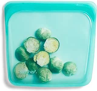 "Stasher STMK06 三明治袋,4.5 英寸(约 11.43 厘米), 莓紫色 Solid - Aqua 7 """