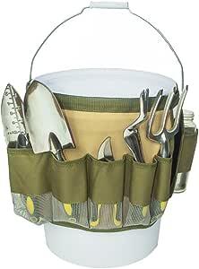 konln 水桶工具收纳架花园工具袋带多口袋(迷彩)