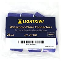 Lightkiwi 防水线接头,适用于低电压景观照明W4675#22 - #12 AWG (20 Pack)