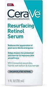 CeraVe 适乐肤 视黄醇精华液 a醇精华液 适用于痘印 皮肤纹理 细化毛孔 补光,1盎司(30ml)