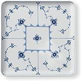 [正规进口商品]Royal Copenhagen皇家哥本哈根 全平边唐草 方形 盘子 20厘米 1017204