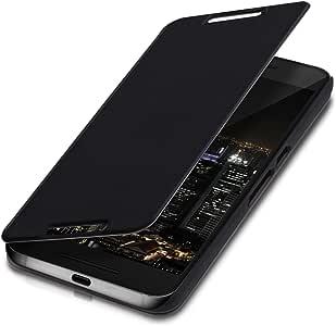 kwmobile 翻盖保护套适用于华为谷歌 Nexus 6P - 光滑 PU 皮革保护套带支架功能 - 黑色35306.01_m000460  .黑色