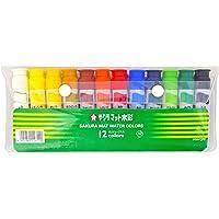 樱花蜡笔画具垫水彩 水果汁 12种颜色套装 加入透明色