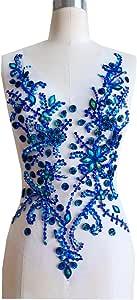 纯手工制作水晶拼贴水钻贴花针织装饰 50 x 30 cm 连衣裙配饰