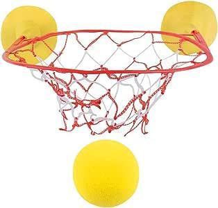 ArtCreativity 儿童篮球游戏套装,包括 1 个泡沫球和 1 个带吸盘的网箍,趣味浴缸篮球箍,家庭、办公室的室内篮球套装,男孩和女孩的*佳礼物