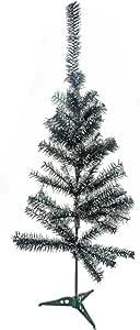 Saim Tabletop 高级人造圣诞松树带雪白效果 绿色,白色 3Ft-Height DYSSSD09089