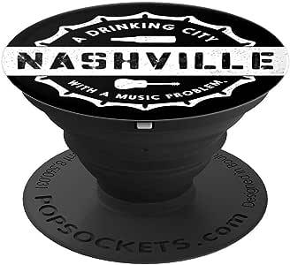 NASHVILLE:一个有音乐问题的饮酒之城 PopSockets 手机和平板电脑握把和支架260027  黑色