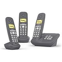 Gigaset A280A DECT无绳电话,带电话答录机,可提供*佳通信和大型图形显示屏 3x A280A Festn…