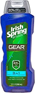 Irish Spring 3-in-1 Gear Body Wash, 18 Ounce (3 Pack)