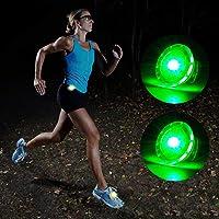 MapleSeeker LED *灯含电池,跑步者可卡入跑步灯,骑行时可见度高,适合跑步|骑行|远足|狗|儿童,*反光装备