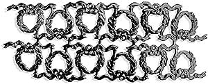 Kunze 12 片装盛装花环,黑色