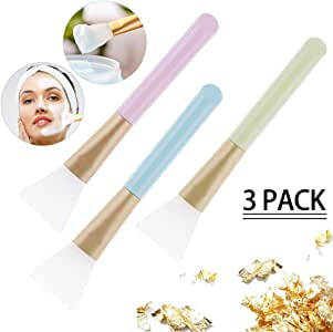 Loazre 3 支硅胶面膜刷,DIY 面膜刷,*工具,软硅胶,适用于面部泥面膜,无毛身体乳