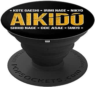 Aikido Skills PopSockets 手机和平板电脑抓握支架260027  黑色