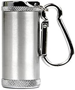 Honoro 金属便携式*灰缸,户外香***灰缸带盖,钥匙扣 Cylinder Silver Honoro-0529-4