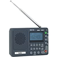 Kaito KA110 小型数字 AM/FM NOAA 天气收音机和 MP3 播放器 带 Micro-SD 读卡器