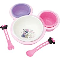 錦化成 婴儿辅食餐具套装 单手可拿 断乳食餐盘 迪士尼米妮版
