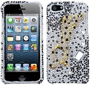MYBAT IPHONE5HPCPRDM3D236WP Premium Dazzling Diamante Bling Case for iPhone 5 / iPhone 5S - 1 Pack - Retail Packaging - 3D Christmas Tree Premium