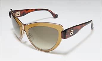 Balenciaga 女式猫眼金色棕色太阳镜