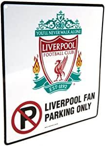 "Club Licensed Liverpool ""No Parking""金属标牌 - (22cm x 25cm)"