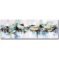 FajerminArt 帆布油画印刷彩色花朵抽象帆布印刷艺术适合客厅、卧室、墙壁艺术绘画(未裱框)(绘画D,50 X 1…