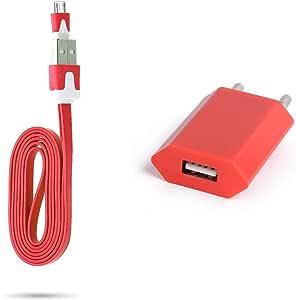 Shot Case Noodle 数据线(1 米,充电和数据线,适用于 Gionee S6S)红色
