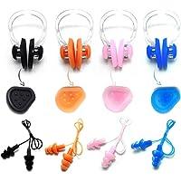 Zooshine 4 件套柔软防水有线硅胶游泳耳塞,耳罩盒包装
